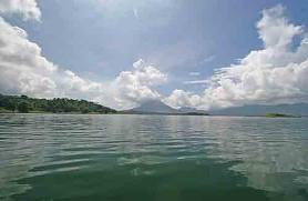 The view from Lago Arenal in Costa Rica