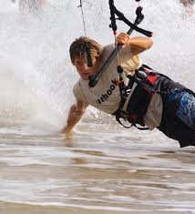Kitesurfing spray